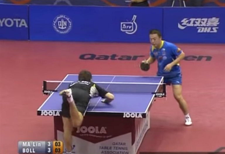 Can you touch the table in table tennis2