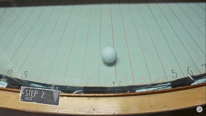 Table Tennis Ball Veer Test-2