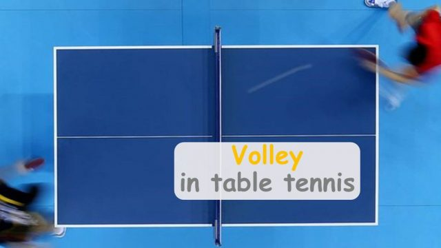 Can you strike the ball before it bounces in table tennis?